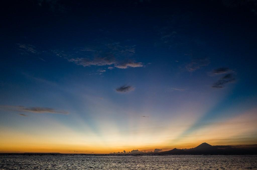 Gili Trawagan ir Bali tolumoje.